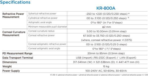 Topcon KR-800PA Auto Refractor b